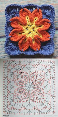 Crochet niffler cardigan a punto alternato a zig zag nunzia valenti – ArtofitCrochet Granny Square Rose S - SalvabraniHow to Crochet Flower, Make a Granny Square and Join ThemImage gallery – Page 840836192902409093 – Artofit Crochet Butterfly Free Pattern, Crochet Motif Patterns, Crochet Diagram, Crochet Chart, Crochet Stitches, Knitting Patterns, Knit Crochet, Crochet Squares, Diy Crochet Granny Square