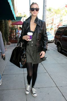 Whitney Port's style with Converse