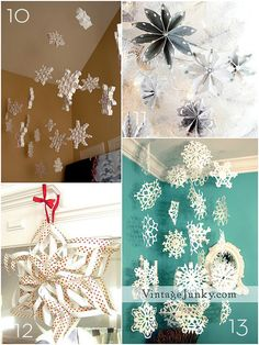 Roundup: 15 DIY Paper Holiday Decor Projects diy ... http://www.curbly.com/users/craftmel/posts/14435-roundup-15-diy-paper-holiday-decor-projects