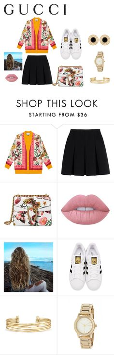 """""""Presenting the Gucci Garden Exclusive Collection: Contest Entry"""" by annieb0bannie ❤ liked on Polyvore featuring Gucci, Alexander Wang, Lime Crime, adidas Originals, Stella & Dot and DKNY"""