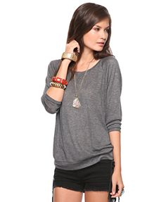 These slouchy t-shirts are comfy and cute.  A nice alternative to a sweatshirt or plain old t!