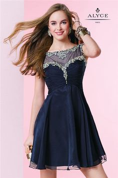 Alyce 3665 Sexy Short Midnight Blue Homecoming Dress 2015 [Alyce 3665] - $170.00 : Cheap Tailored Prom Dresses 2014,Herve Leger Bandage Dresses,Save Up To 50% Discount