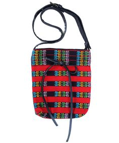 Sling bag of the Ao Naga traditional motif with leatherette back