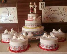 tort de nunta traditional - Căutare Google Fun Food, Good Food, Weeding, Bulgaria, Romania, Wedding Cakes, Food And Drink, Wedding Ideas, Popular