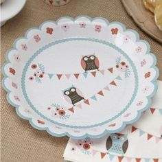 Patchwork Owl Birthday Party Baby Shower Tableware Supplies Plates for sale online Owl Themed Parties, Owl Parties, Birthday Parties, Birthday Stuff, 7th Birthday, Birthday Ideas, Owl Party Supplies, Black Friday Toy Deals, Paper Owls