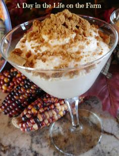 A Day in the Life on the Farm: White Chocolate Pumpkin Mousse because it is #PumpkinWeek with the #bookclubcookbookCC
