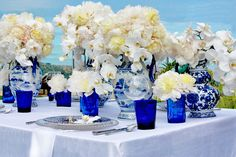 beach wedding decor orchid centerpieces and Reception, Styles, Wedding, Bouquet, Centerpieces Orchid Centerpieces, Centerpiece Decorations, Wedding Centerpieces, Wedding Table, Wedding Reception, Hotel Wedding, Beach Wedding Decorations, Wedding Themes, Wedding Colors