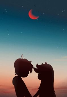 Under the Moonlight : StarVStheForcesofEvil Funny Phone Wallpaper, Cute Disney Wallpaper, Cute Cartoon Wallpapers, Animes Wallpapers, Starco Comic, Star Force, The Ancient One, Cute Anime Character, Photo Couple