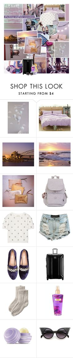 """[Packing stuff for vacation]"" by lejournaldessecrets ❤ liked on Polyvore featuring Retrò, West Elm, Kipling, Alice + Olivia, Yosi Samra, Tumi, Victoria's Secret, Eos, Summer and travel"
