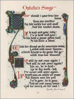 William Shakespeare. Songs and sonnets: with tributes of three centuries written to commemorate the tercentenary of his death, April 23, 1916, 1926 / by Sir Sidney Lee. Illumination by Alberto Sangorski.