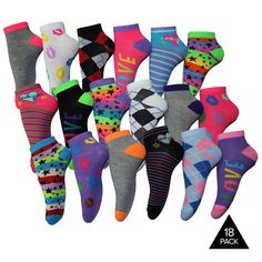 18 Pairs of Women's Socks : $11.99 + Free S/H (reg. $39)  http://www.mybargainbuddy.com/18-pairs-of-womens-socks-11-99-free-sh