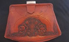 Antique c1917 Tooled ARTS and CRAFTS Leather Clurch by bronnie17, $34.95