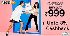 Buy any 3 men & women fashion clothing footwear and accessories at Rs.999/- @jabongindia  get upto 8% extra cashback from us >> http://ift.tt/21Mhdze  #fashion #clothing #men #women #accessories #jabong #menfashion #womenfashion #fashionclothing #fashionaccessories #cashback #cashbackoffers