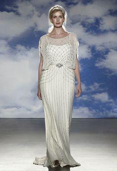 Vestidos de novia para gorditas de la colección 2015 de Jenny Packham incluye delicadas capas y detalles bordados únicos