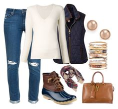 """""""Rain Fashion"""" by kameestlye ❤ liked on Polyvore featuring Sperry, Paige Denim, Joules, Chloé, Yves Saint Laurent, Ashley Pittman, Bloomingdale's, Boots and sperry"""