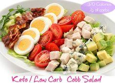 ketogenic diet low carb cobb salad
