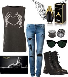 """""""lady gaga fame"""" by emmainem ❤ liked on Polyvore"""
