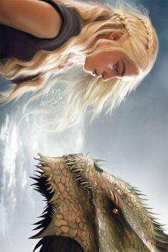 Daenerys Targaryen from game of thrones art by KimG-Design #DaenerysTargaryen #gameofthrones #cosplayclass #gaming