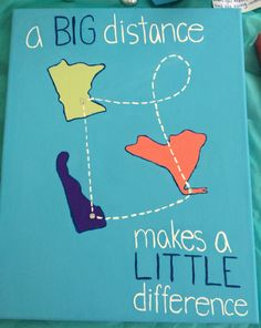 Made this for my big for big appreciation day! Big little/twins craft #canvas #sorority #srat