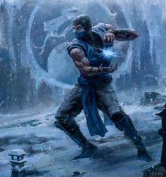 Sub-Zero (Mortal Kombat) Sub Zero Mortal Kombat, Scorpion Mortal Kombat, Mortal Kombat Xl, Kratos Mortal Kombat, Kitana Mortal Kombat, Fun Video Games, Video Game Art, Power Rangers, Mortal Kombat Tattoo