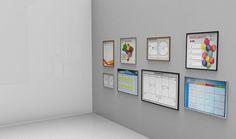 Modelos de Quadro Brancos Personalizados para gestão, visualização e criação.