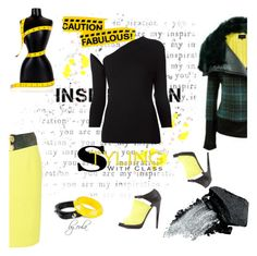 """""""Yellow and Black"""" by eula-eldridge-tolliver ❤ liked on Polyvore featuring Rosie Assoulin, Blaque Label, By Malene Birger, Alexander McQueen, Gorgeous Cosmetics, Charlotte Russe, blackandgold, MyStyle, fashionset and winterfashion"""