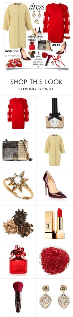 """Party On: Long Sleeve Dresses"" by ellie366 ❤ liked on Polyvore featuring MM6 Maison Margiela, Ciaté, Bottega Veneta, Marni, Anzie, Christian Louboutin, Yves Saint Laurent, Marc Jacobs, Guerlain and Miguel Ases"