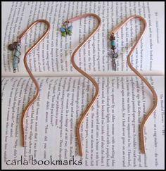 Copper wire bookmark tutorial.