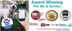 PetHub Digital ID Tags | QR code pet tags, scan the tag with a smart phone and all of your pets data will be shown, and the app will immediately alert you