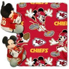 Kansas City Chiefs Blanket Disney Hugger