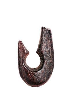 "Kiffian Fish Hook from Gobero. Likely used to hook huge Nile perch in deep waters some 9,000 years ago in a ""green Sahara,"" an inch-long fish hook carved from animal bone is among hundreds of artifacts discovered at the Gobero archaeological site in Niger. Dozens of fishhooks and harpoons found at the site, some stuck into the bottom of the ancient lakebed, tell of a time when Gobero was a lush fishing and hunting ground inhabited by crocodiles, hippos and pythons."