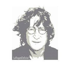 John Lennon Modern cross stitch pattern The от LeRayonDeSoleil