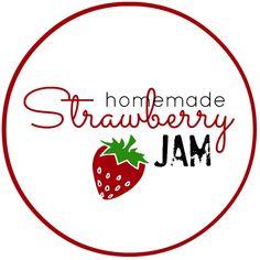 Homemade Strawberry Jam Free Jam Labels - The Idea Room - Clip Art Library Jam Jar Labels, Jam Label, Canning Labels, Homemade Strawberry Jam, Strawberry Picking, Strawberry Jelly, Strawberry Syrup, Jam Recipe Without Pectin, Apricot Jam Recipes