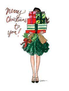 Christmas Wallpaper Illustration Xmas Ideas For 2019 Noel Christmas, Christmas Pictures, Winter Christmas, Vintage Christmas, Christmas Crafts, Christmas Decorations, Christmas Fashion, Winter Fashion, Christmas Girls