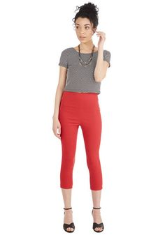 Jive Got a Feeling Pants in Red | Mod Retro Vintage Pants | ModCloth.com