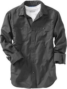 Men's Poplin Shirts | Old Navy | Family Picture Outfit Ideas |