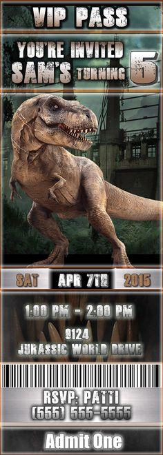 Sale: Jurassic World Birthday Party by 3SistersPublishing on Etsy