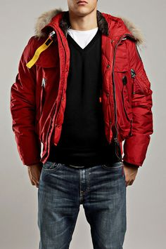 Sale Online Parajumpers Gobi Bomber Jacket Mens Red