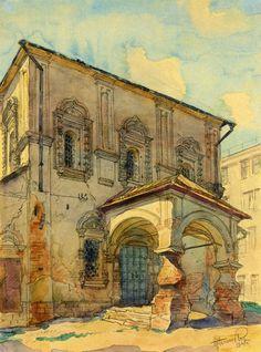 Церковь Владимира в Старых Садех. 1660-е - 1680-е гг. Рисунок 1947 г..jpg