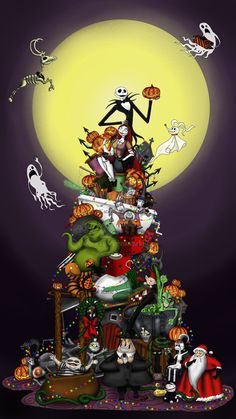 31 super ideas for nightmare before christmas wallpaper backgrounds jack skellington Nightmare Before Christmas Wallpaper, Nightmare Before Christmas Tattoo, New Nightmare, Arte Tim Burton, Tim Burton Kunst, Jack Skellington, Halloween Town, Happy Halloween, Halloween Stuff