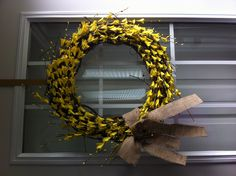 Dollarama wreath I made this week. I am currently addicted to burlap. Burlap, Creativity, Thanksgiving, Wreaths, Halloween, Fall, House, Home Decor, Autumn