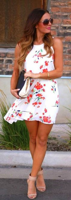 Summer Floral Sleeveless Dress