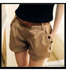 Short Feminino Casual Slim
