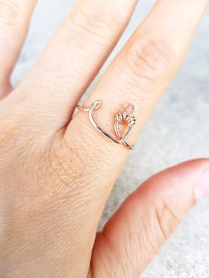 Arabic Letter Ring Personalized 22k Gold Ring Initial Ring