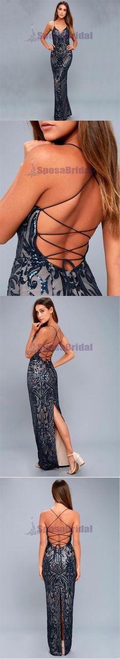 Spaghetti Strap New Arrival Elegant Mermaid Prom Dresses, Evening Dresses, Popular Bridesmaid Dresses, PD0539