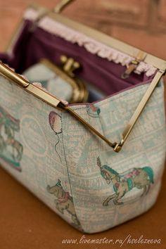 613047112fc7 Женские сумки ручной работы. Заказать Клатч с фермуаром и кошелёк