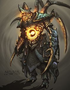 Looks powerful, really like fiery center, and insectoid look for Azmodan.  Concept