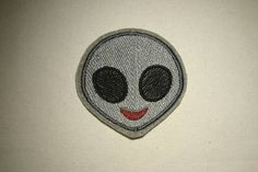 Extraterrestrial Alien Emoji  Embroidered IronOn SewOn Patch