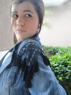 Altered Couture Denim Jacket with Vintage by AlexandraAndCo, $65.95