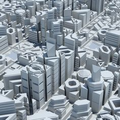 3d city geometric model - Geometric City 2 by Giimann